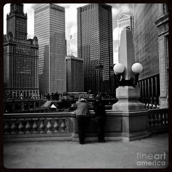 Photograph - People And Skyscrapers - Square by Frank J Casella