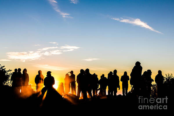 Photograph - People At The Top Of A Volcano In Java In Indonesia by Didier Marti