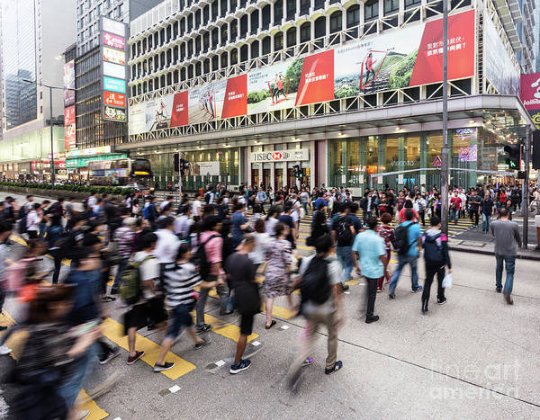 Photograph - People In Motion In Hong Kong by Didier Marti