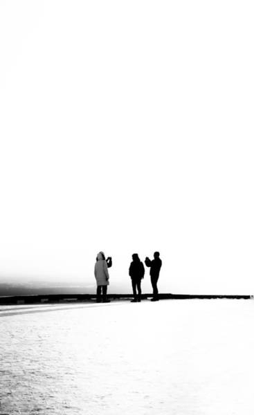Photograph - People Lost In Winter Snow And Time by John Williams