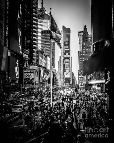 Wall Art - Photograph - People Of Time Square by Perry Webster