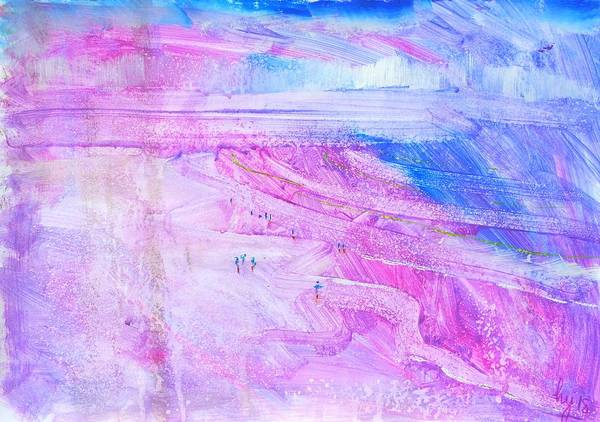 Mixed Media - People On The Beach At Fistral Beach by Mike Jory