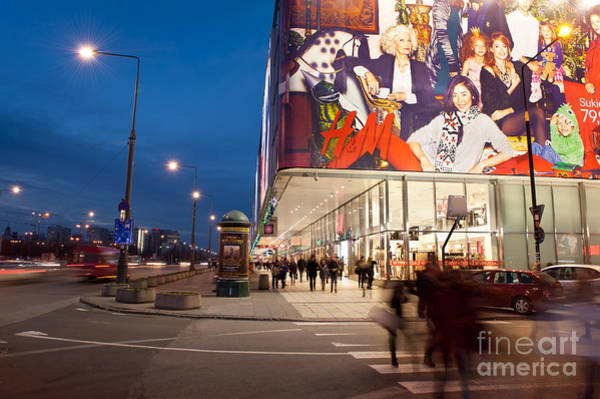 Wall Art - Photograph - People Shopping In Capital City by Arletta Cwalina