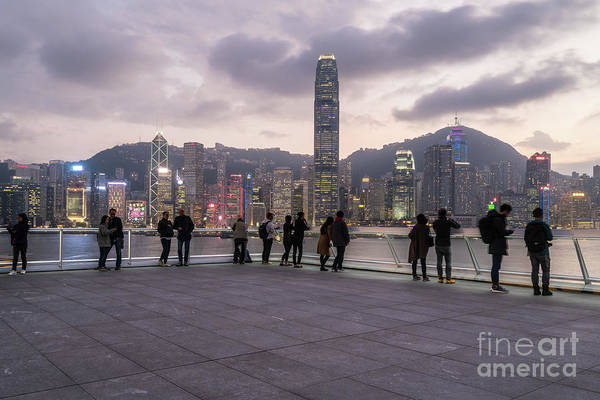 Photograph - People Taking Picutre And Enjoying The View From The Top Of The  by Didier Marti