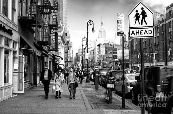 Photograph - People Walking Ahead by John Rizzuto