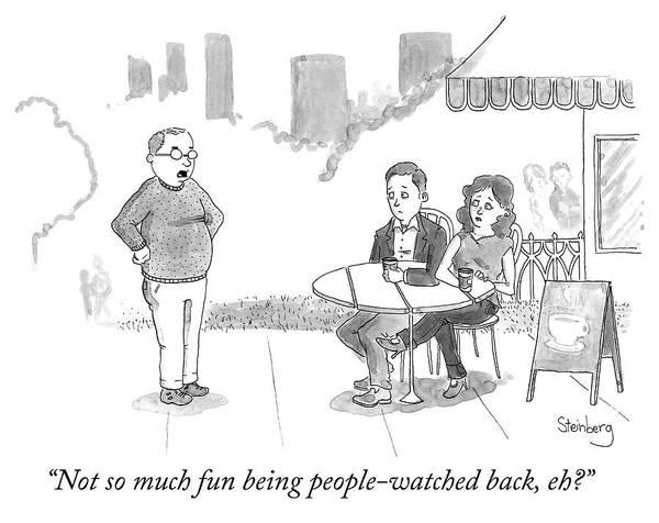 Avi Steinberg Drawing - People Watching by Avi Steinberg
