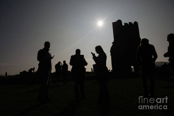 Photograph - People Watching The Solar Eclipse In Aberystwyth by Keith Morris