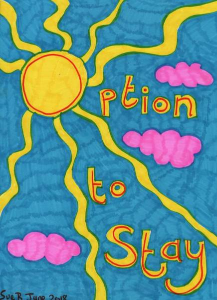 Options Drawing - People's Vote Option To Stay With Sun by Sushila Burgess