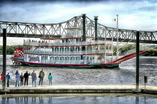 Wall Art - Photograph - Peoria River Boat In September by Thomas Woolworth