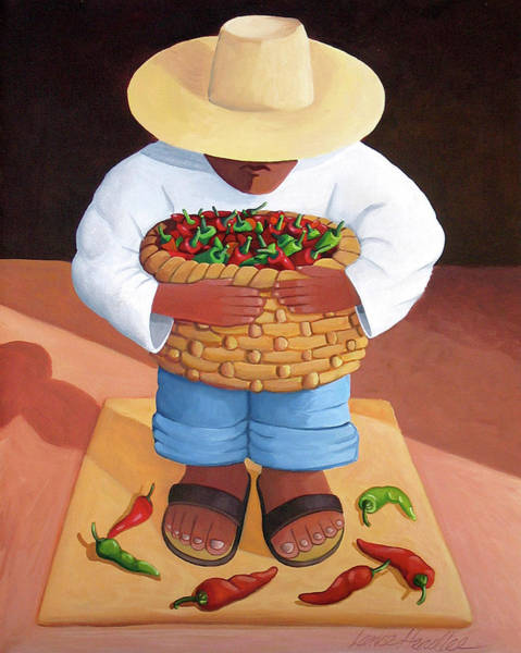 Painting - Pepper Boy by Lance Headlee