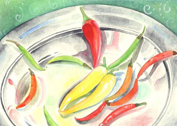Painting - Pepper Play by Helena Tiainen