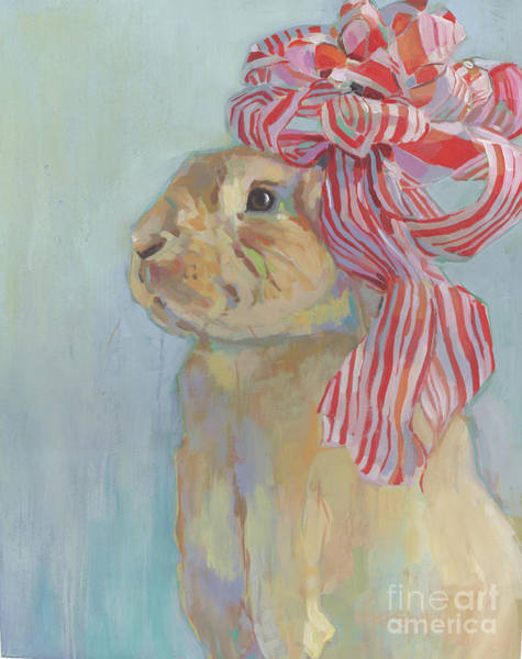 Cane Painting - Peppermint by Kimberly Santini