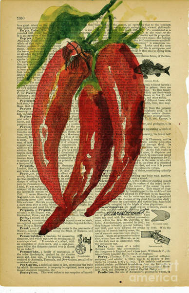 Wall Art - Painting - Peppers From The Garden by Maria Hunt