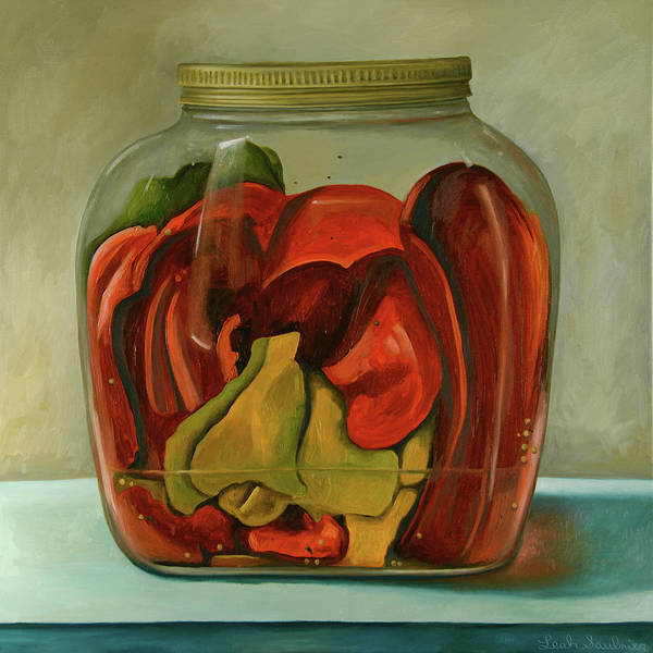 Painting - Peppers by Leah Saulnier The Painting Maniac