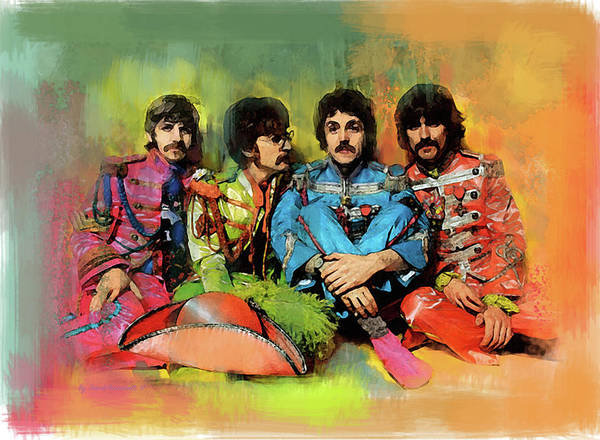 Wall Art - Painting - Peppers Band  The Beatles by Iconic Images Art Gallery David Pucciarelli