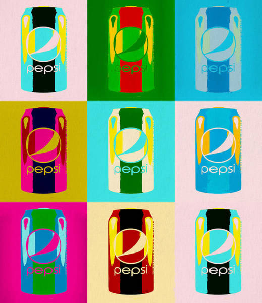Wall Art - Painting - Pepsi Can Pop Art by Dan Sproul