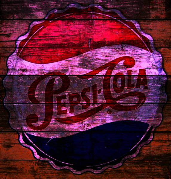 Wall Art - Mixed Media - Pepsi Cola 1a by Brian Reaves