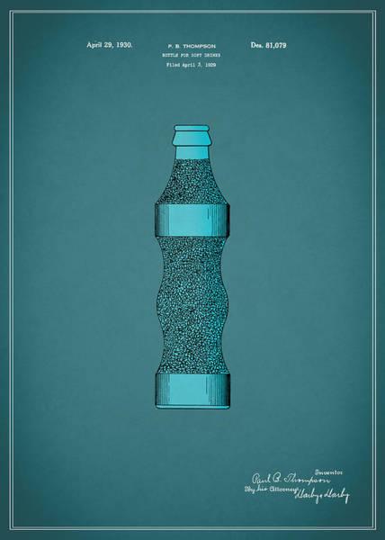 Drink Coca Cola Photograph - Pepsi Cola Bottle Patent 1930 by Mark Rogan
