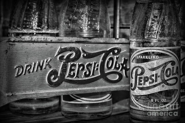 Wall Art - Photograph - Pepsi Double Dot Metal Carrie In Black And White by Paul Ward