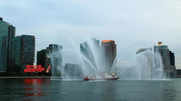 Roosevelt Island Wall Art - Photograph - Pepsi Sign And Fdny  by Catie Canetti
