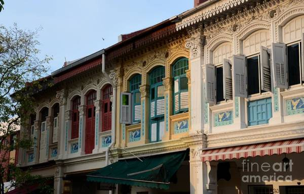 Photograph - Peranakan Architecture Design Houses And Windows Joo Chiat Singapore by Imran Ahmed