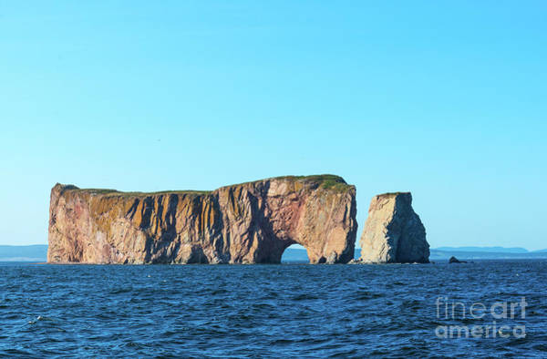 Photograph - Perce Rock In Gaspe, Quebec by Les Palenik