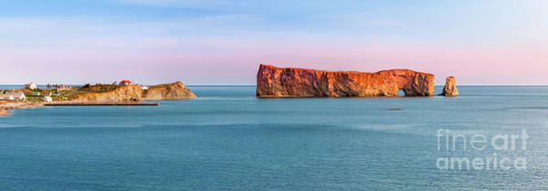 Wall Art - Photograph - Perce Rock Panorama At Sunset by Elena Elisseeva
