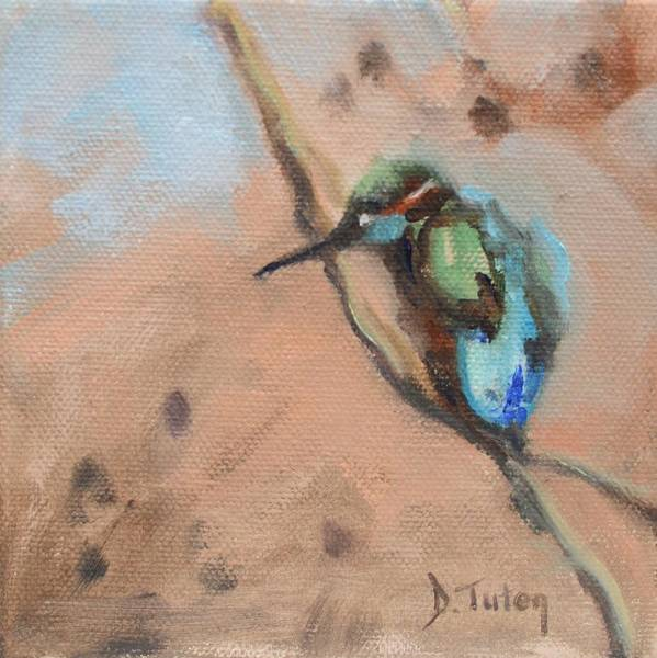 Painting - Perched Hummingbird by Donna Tuten