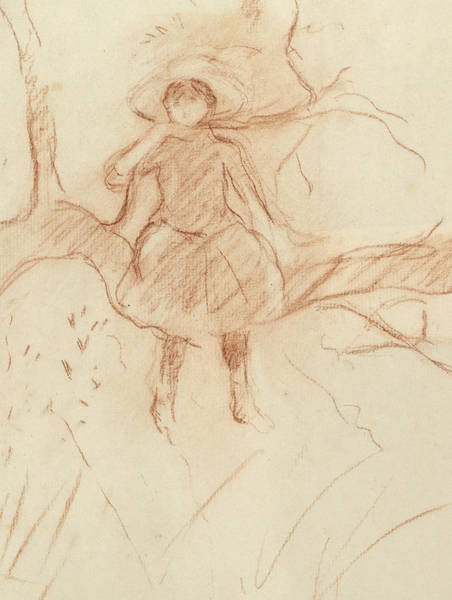 Pastel Pencil Drawing - Perching In The Tree by Berthe Morisot
