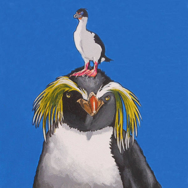 Painting - Percy The Penguin by Sharon Cromwell