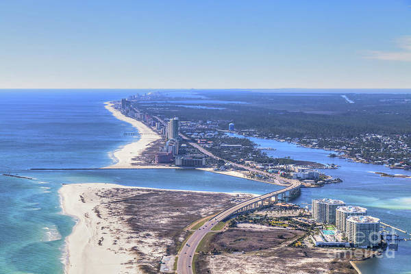 Photograph - Perdido Pass Bridge 4319 by Gulf Coast Aerials