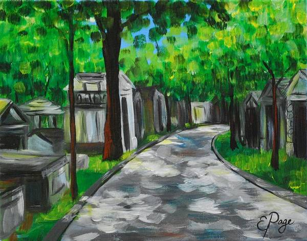 Painting - Pere Lachaise Cemetery by Emily Page