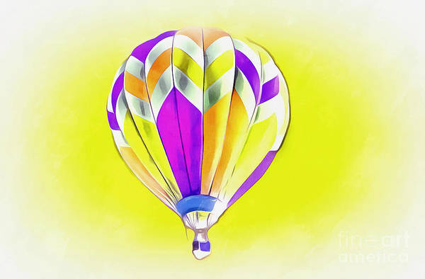 Hot Air Balloon Digital Art - Perfect Day by Krissy Katsimbras