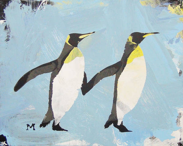 Painting - Perfect Penguins by Candace Shrope