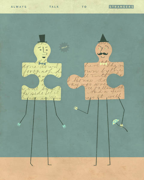 Puzzle Digital Art - Perfect Strangers by Jazzberry Blue