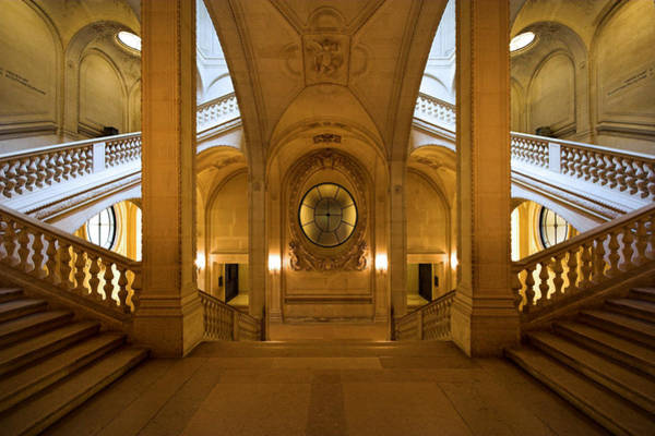 Photograph - Perfect Symmetry At The Louvre Museum Paris by Pierre Leclerc Photography