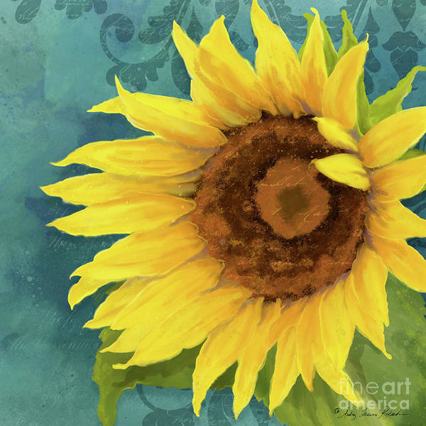 Wall Art - Painting - Perfection - Russian Mammoth Sunflower by Audrey Jeanne Roberts