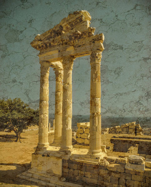 Photograph - Pergamon, Turkey - Temple Of Trajan by Mark Forte