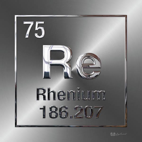 Digital Art - Periodic Table Of Elements - Rhenium by Serge Averbukh