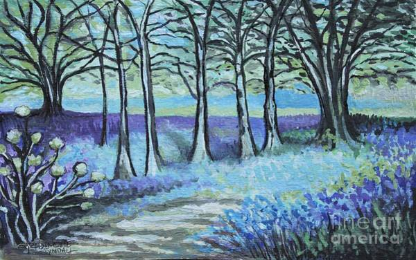 Painting - Periwinkle Path by Elizabeth Robinette Tyndall