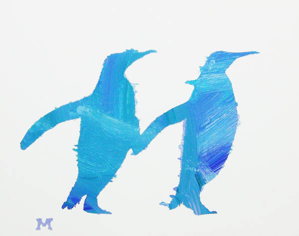 Painting - Perky Penguins by Candace Shrope