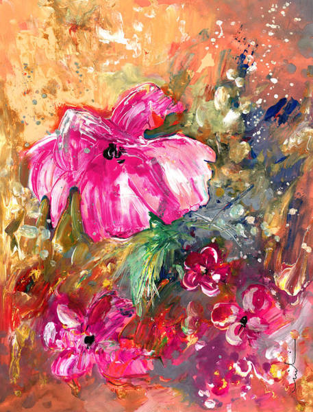 Painting - Perky Pink by Miki De Goodaboom