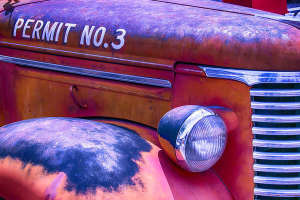Fire Truck Photograph - Permit No 3 by Garry Gay