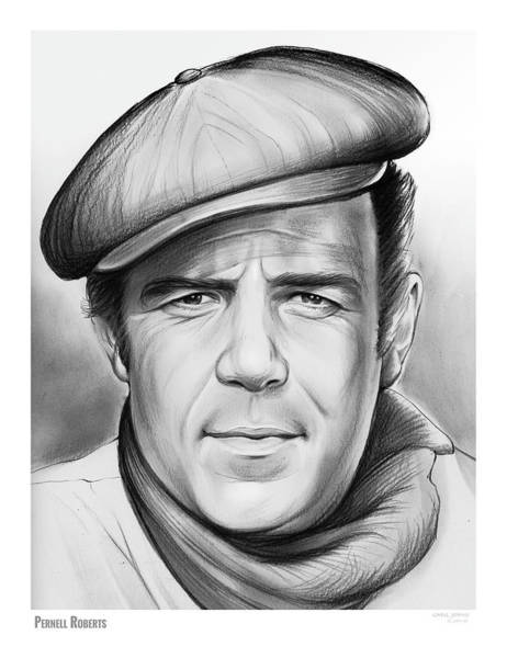 Stage Wall Art - Drawing - Pernell Roberts by Greg Joens