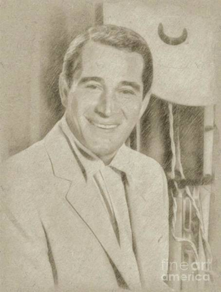 Wizard Drawing - Perry Como, Singer by Frank Falcon