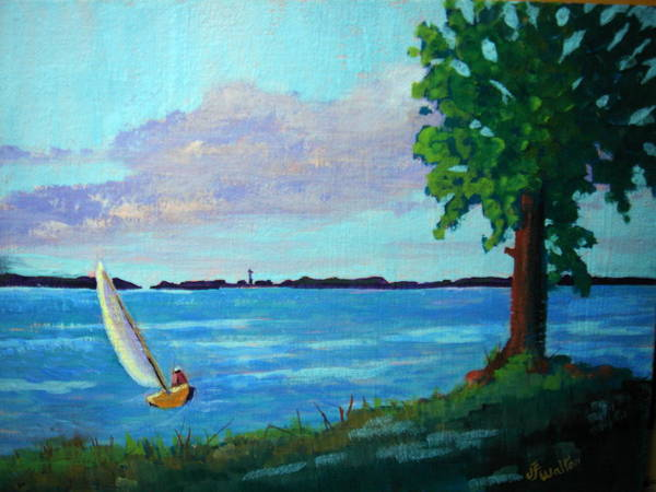 Painting - Perrys Monument Sail by Judy Fischer Walton