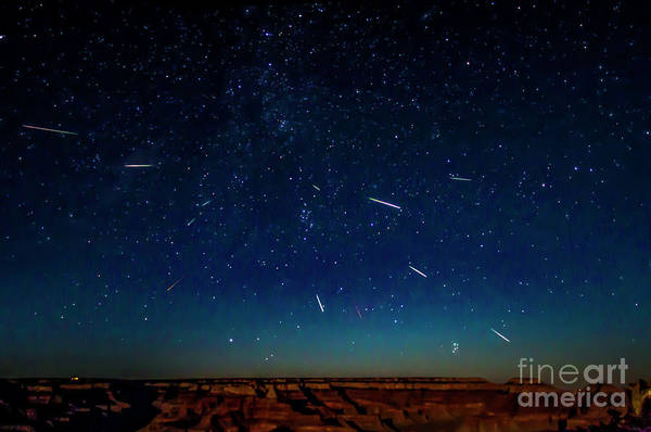 Perseid Meteor Shower Art Print