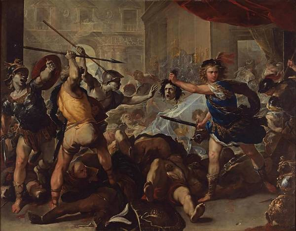 Painting - Perseus Fights Phineas  by Luca Giordano