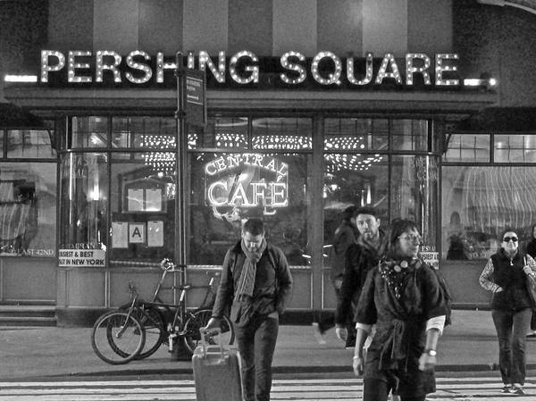 Photograph - Pershing Square Monochrome by Steven Lapkin