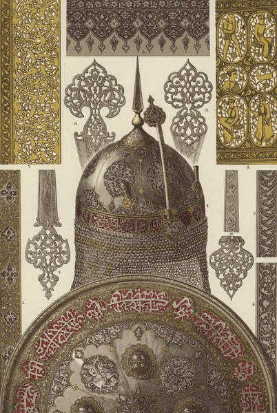 Arabian Drawing - Persian Metalwork by German School